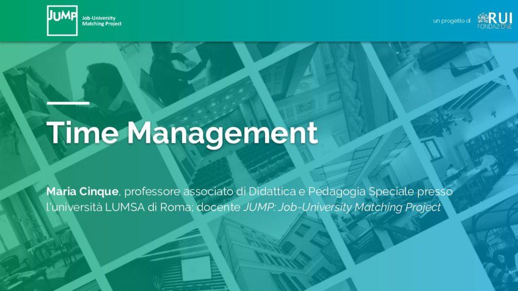 Time Management: spunti e idee da mettere subito in pratica